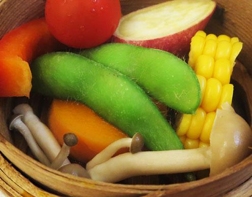 野菜のセイロ蒸しアップ