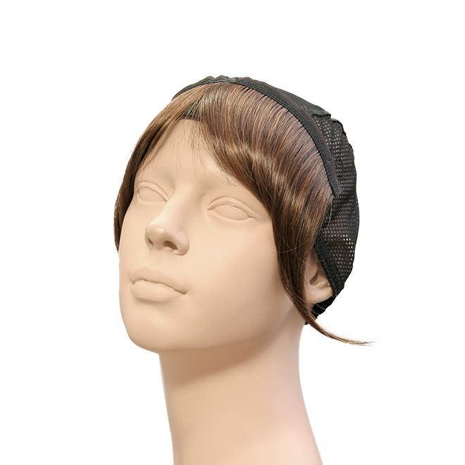 クリップヘア:前髪黒自然色